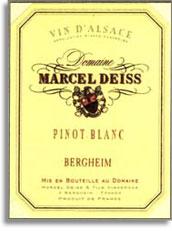 2009 Domaine Marcel Deiss Pinot Blanc Bergheim