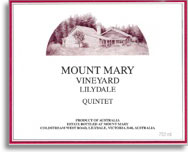 2007 Mount Mary Vineyard Quintet Yarra Valley