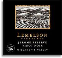 2010 Lemelson Vineyards Pinot Noir Jerome Reserve Willamette Valley
