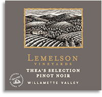 2010 Lemelson Vineyards Pinot Noir Thea's Selection Willamette Valley