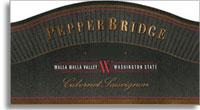 2010 Pepper Bridge Winery Cabernet Sauvignon Walla Walla Valley