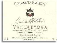 2009 Domaine La Garrigue Vacqueyras Cuvee de l'Hostellerie