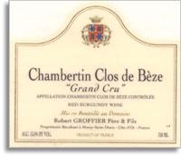 1999 Domaine Robert Groffier Pere & Fils Chambertin-Clos de Beze