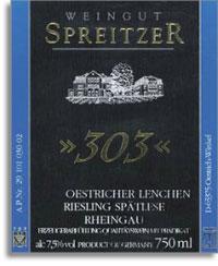 2007 Weingut Josef Spreitzer Oestricher Lenchen Riesling Spatlese 303