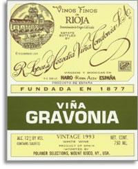 2004 R. Lopez de Heredia Vina Gravonia Blanco Rioja