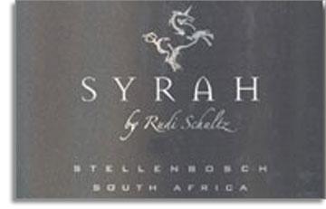2002 Rudi Schultz Wines Syrah Stellenbosch