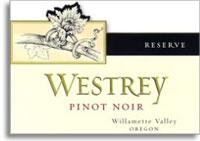 2010 Westrey  Wine Company Pinot Noir Reserve Willamette Valley