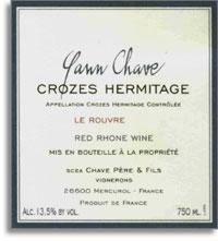 2010 Domaine Yann Chave Crozes-Hermitage Le Rouvre