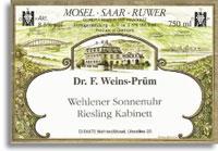 2011 Dr. F. Weins-Prum Wehlener Sonnenuhr Riesling Kabinett