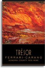 2010 Ferrari-Carano Winery Tresor Red Wine Sonoma County