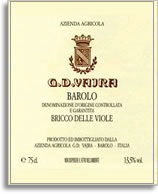 2011 G.D. Vajra Barolo Bricco delle Viole