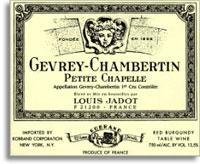 2012 Domaine/Maison Louis Jadot Gevrey-Chambertin Petite Chapelle