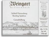 2011 Florian Weingart Schloss Furstenberg Riesling Spatlese