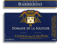 2009 Domaine de la Solitude Chateauneuf-du-Pape Cuvee Barberini