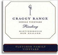 2010 Craggy Range Vineyards Riesling Fletcher Family Vineyard Marlborough