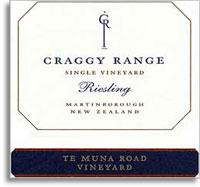 2012 Craggy Range Vineyards Riesling Te Muna Road Vineyard Martinborough