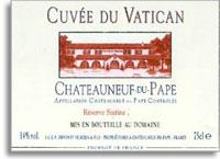 2010 Cuvee du Vatican Chateauneuf-du-Pape Reserve Sixtine