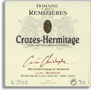 2010 Domaine des Remizieres Crozes-Hermitage Blanc Cuvee Christophe