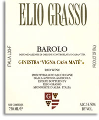 2010 Elio Grasso Barolo Ginestra Vigna Casa Mate