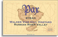 2011 Pax Wine Cellars Syrah Walker Vine Hill Russian River Valley