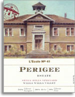 2009 l'Ecole No. 41 Perigee Estate Seven Hills Vineyard Red Wine Walla Walla Valley