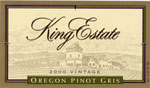 2010 King Estate Winery Pinot Gris Oregon