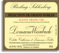 2001 Domaine Weinbach Riesling Schlossberg Selection De Grains Nobles