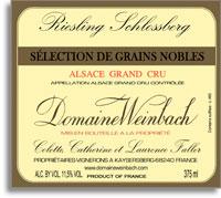 2007 Domaine Weinbach Riesling Schlossberg Selection De Grains Nobles