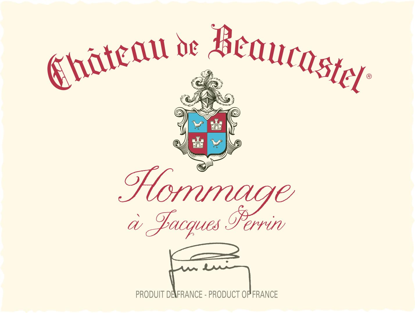 2001 Chateau de Beaucastel Chateauneuf-du-Pape Hommage a Jacques Perrin