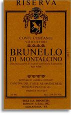 2001 Costanti Brunello Di Montalcino Riserva