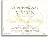 2008 Domaine Cordier Pere et Fils Macon Blanc au Bois d'Allier