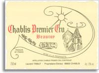 2012 Domaine Laurent Tribut Chablis Beauroy