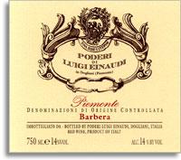 2010 Luigi Einaudi Barbera Piemonte