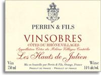 2009 Famille Perrin Vinsobres Les Hauts De Julien Vieilles Vignes