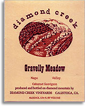 2000 Diamond Creek Vineyards Cabernet Sauvignon Gravelly Meadow Diamond Mountain