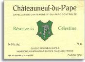 2007 Domaine Henri Bonneau Chateauneuf-du-Pape Reserve des Celestins