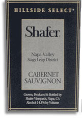 2007 Shafer Vineyards Cabernet Sauvignon Hillside Select Stags Leap District