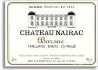 2011 Chateau Nairac Sauternes Barsac