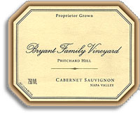 2002 Bryant Family Vineyard Cabernet Sauvignon Pritchard Hill Napa Valley