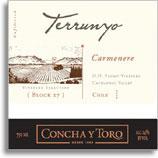 2011 Concha Y Toro Carmenere Terrunyo Peumo Vineyard Block 27 Cachapoal Valley
