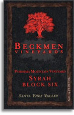 2010 Beckmen Syrah Block Six Purisima Mountain Vineyard Santa Ynez Valley