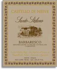 2010 Castello Di Neive Barbaresco Santo Stefano