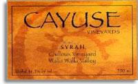 2002 Cayuse Vineyards Syrah Cailloux Vineyard Walla Walla Valley