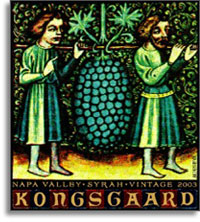 2013 Kongsgaard Wines Syrah Hudson Vineyards Napa Valley