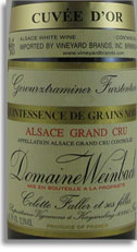 2001 Domaine Weinbach Gewurztraminer Furstentum Quintessence De Grains Nobles