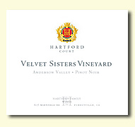 2011 Hartford Family Wines Hartford Court Pinot Noir Velvet Sisters Vineyard Anderson Valley