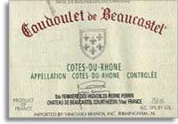 2011 Chateau De Beaucastel Cotes Du Rhone Coudoulet De Beaucastel