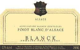 2002 Domaine Paul Blanck Pinot Blanc d'Alsace