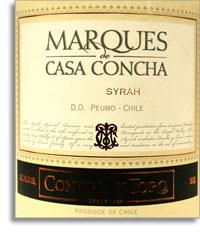 2005 Concha Y Toro Syrah Marques De Casa Concha Rapel Valley