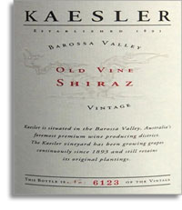 2012 Kaesler Wines Old Vine Shiraz Barossa Valley